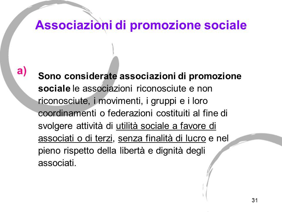 Non sono Associazioni di promozione sociale