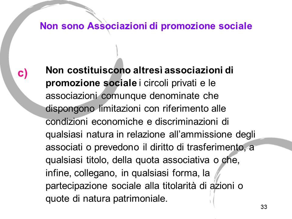 Disciplina delle Associazioni di promozione sociale
