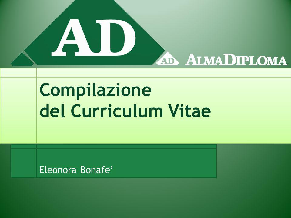 Compilazione del Curriculum Vitae