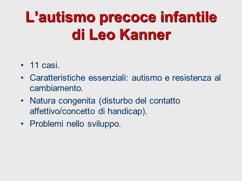 L'autismo precoce infantile di Leo Kanner