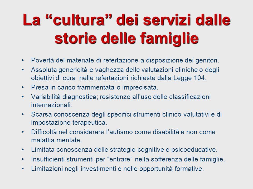 La cultura dei servizi dalle storie delle famiglie