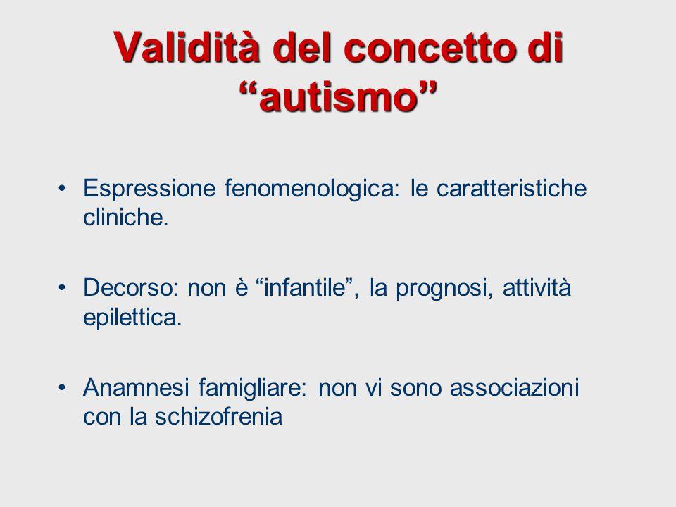 Validità del concetto di autismo