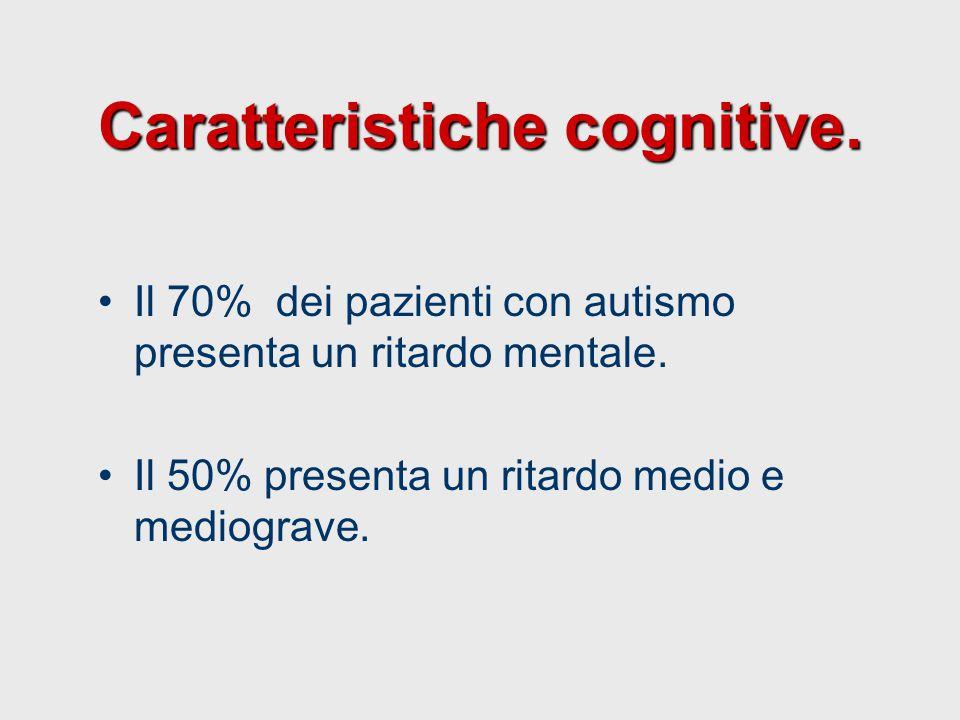 Caratteristiche cognitive.
