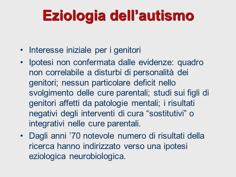 Eziologia dell'autismo