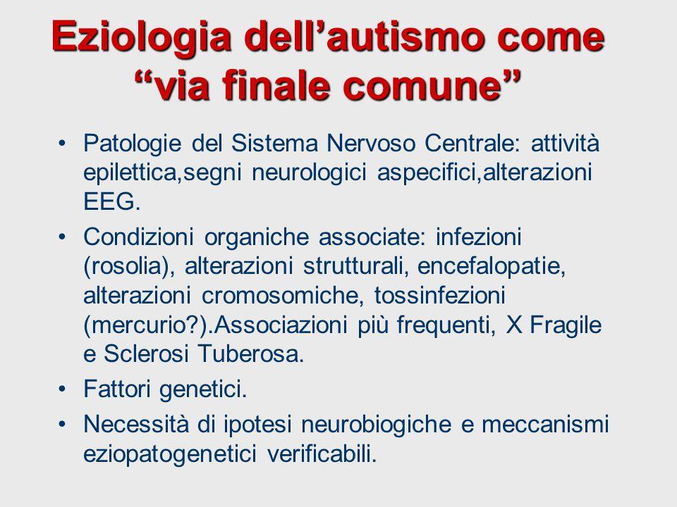 Eziologia dell'autismo come via finale comune