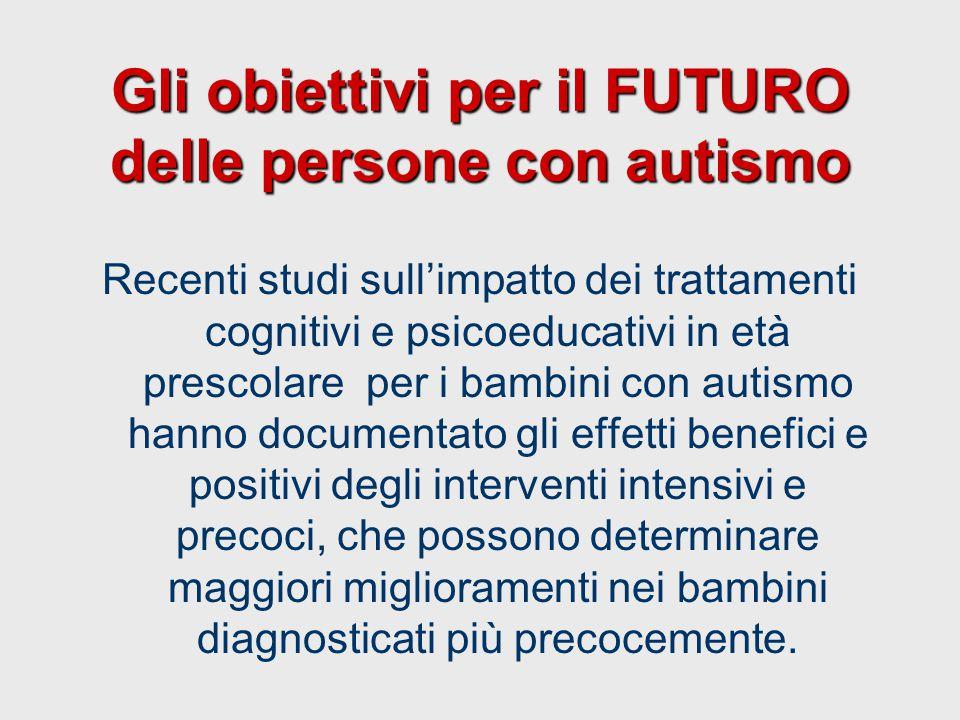 Gli obiettivi per il FUTURO delle persone con autismo