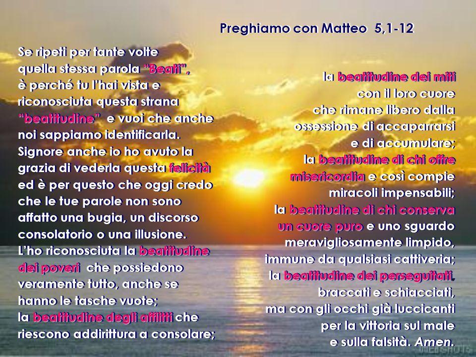 Preghiamo con Matteo 5,1-12
