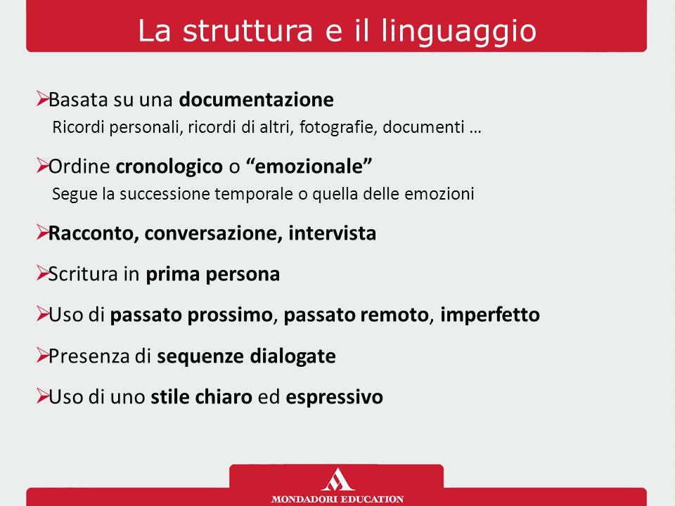 La struttura e il linguaggio