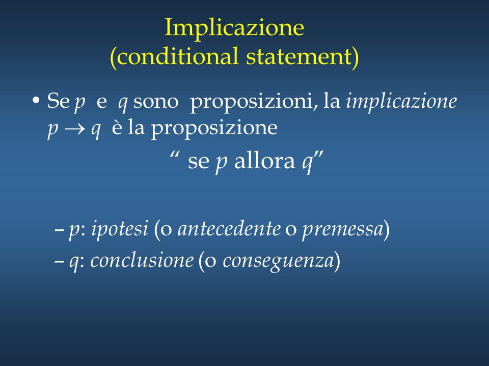 Implicazione (conditional statement)