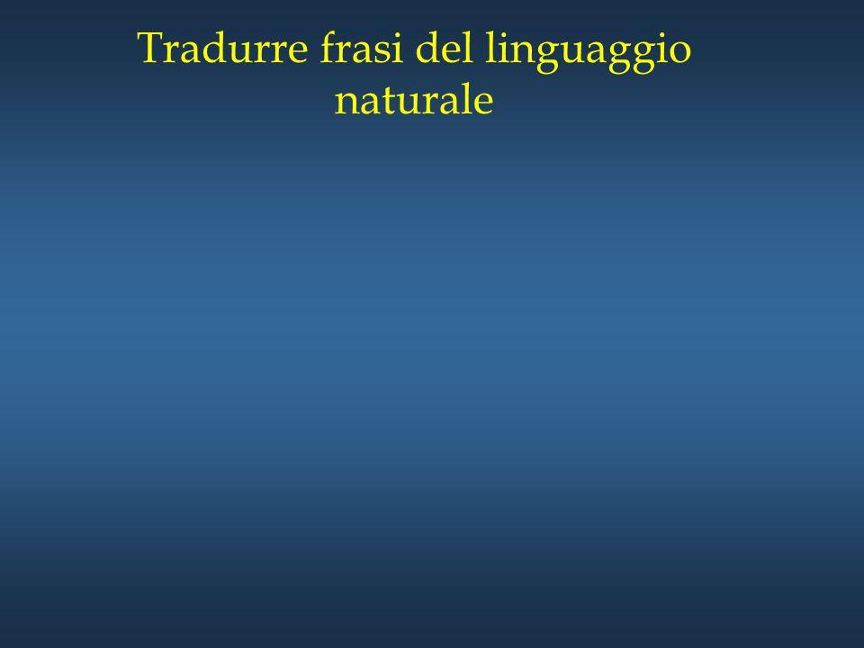 Tradurre frasi del linguaggio naturale