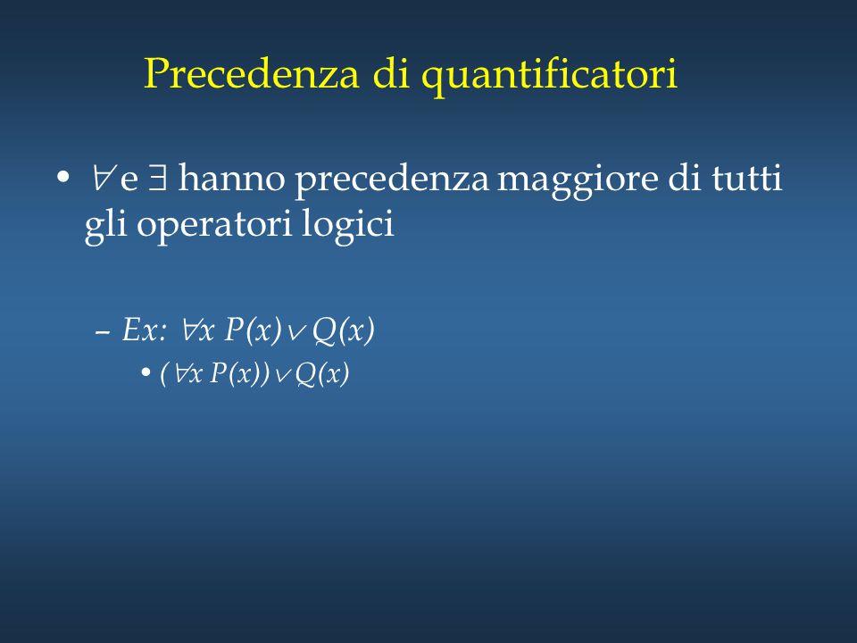 Precedenza di quantificatori
