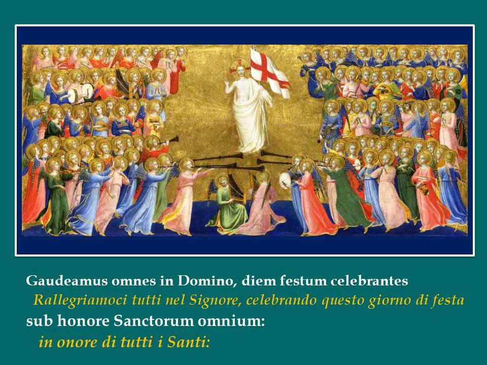 sub honore Sanctorum omnium: in onore di tutti i Santi: