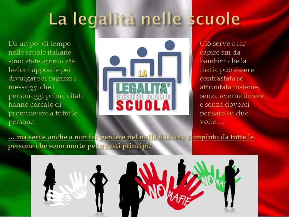 La legalità nelle scuole