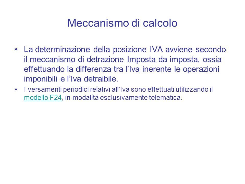 Meccanismo di calcolo