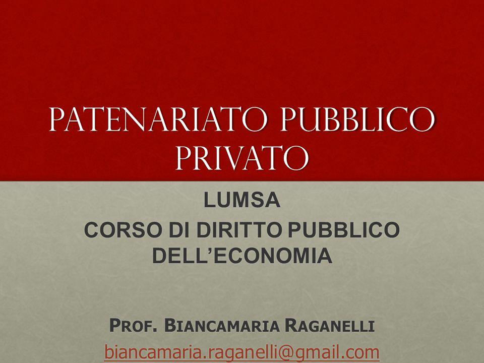 Patenariato pubblico privato