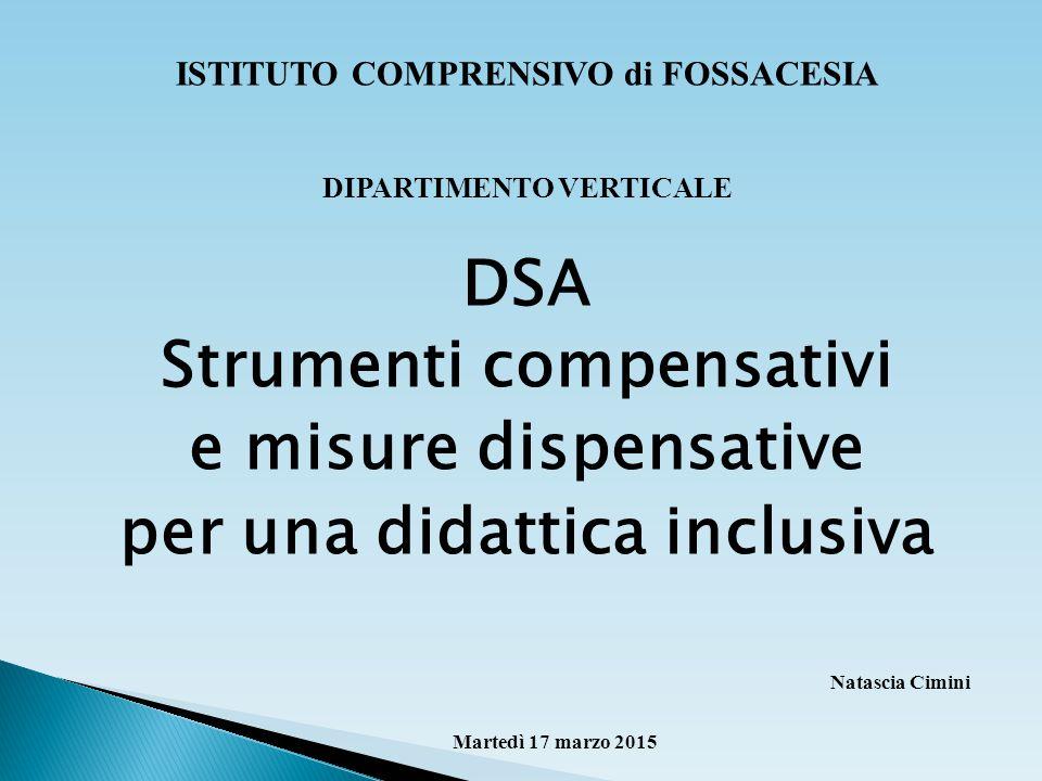 DSA Strumenti compensativi e misure dispensative