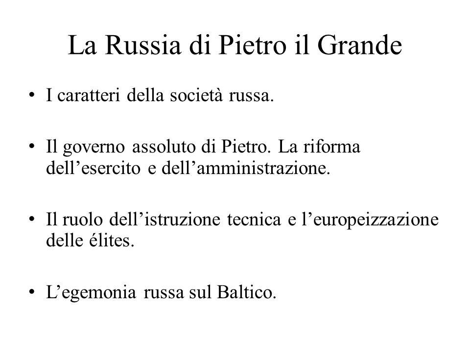 La Russia di Pietro il Grande