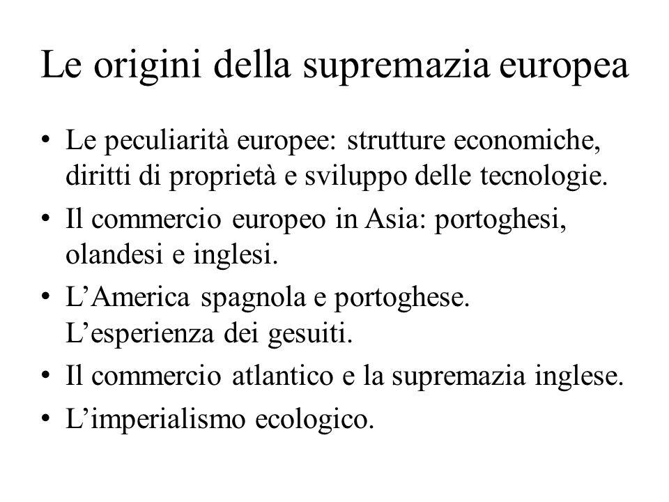 Le origini della supremazia europea
