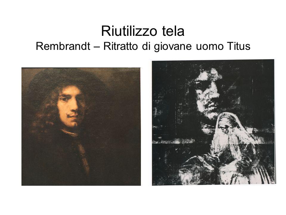 Riutilizzo tela Rembrandt – Ritratto di giovane uomo Titus