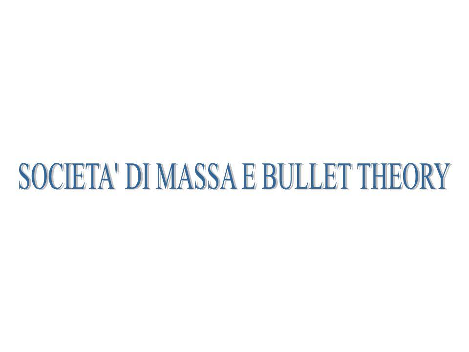 SOCIETA DI MASSA E BULLET THEORY