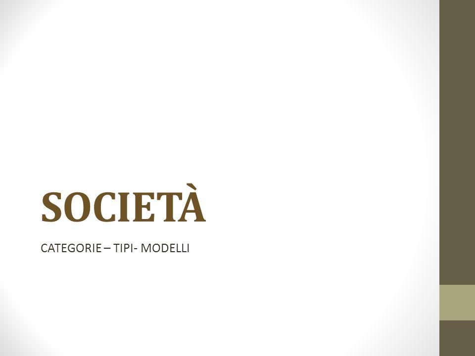 CATEGORIE – TIPI- MODELLI