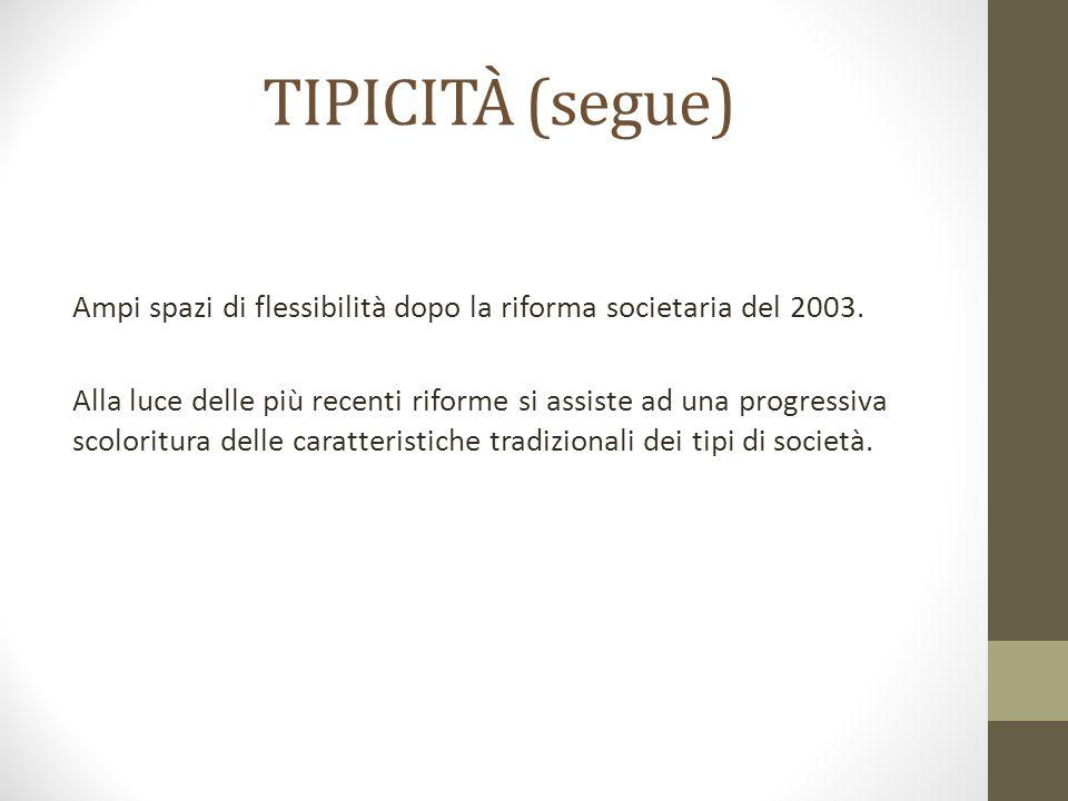 TIPICITÀ (segue)