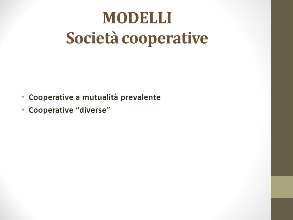MODELLI Società cooperative