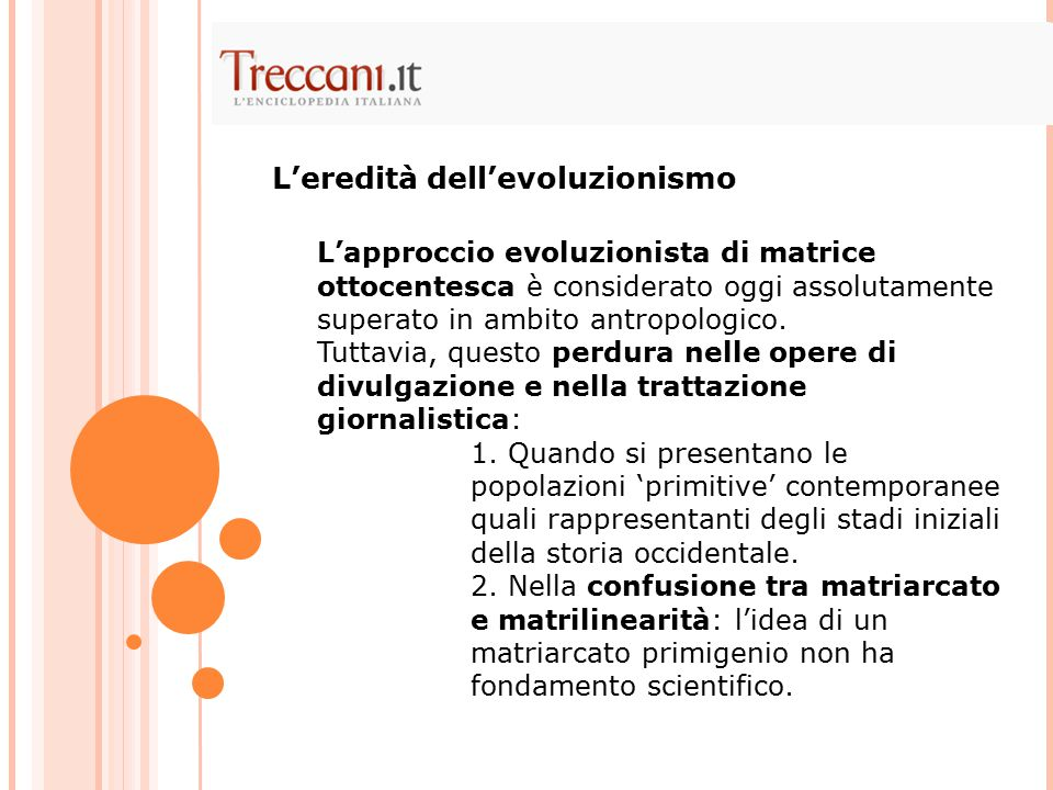 L'eredità dell'evoluzionismo