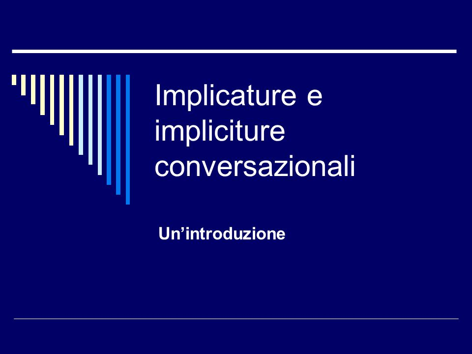 Implicature e impliciture conversazionali