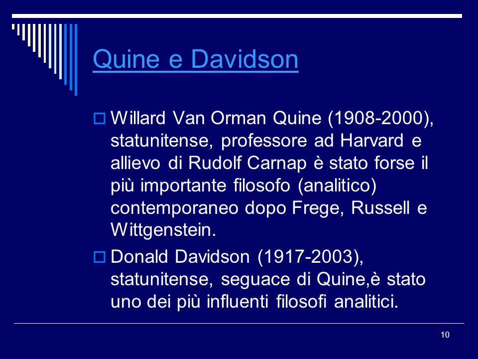 Quine e Davidson