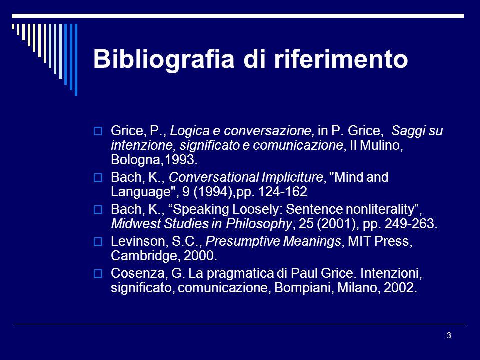 Bibliografia di riferimento