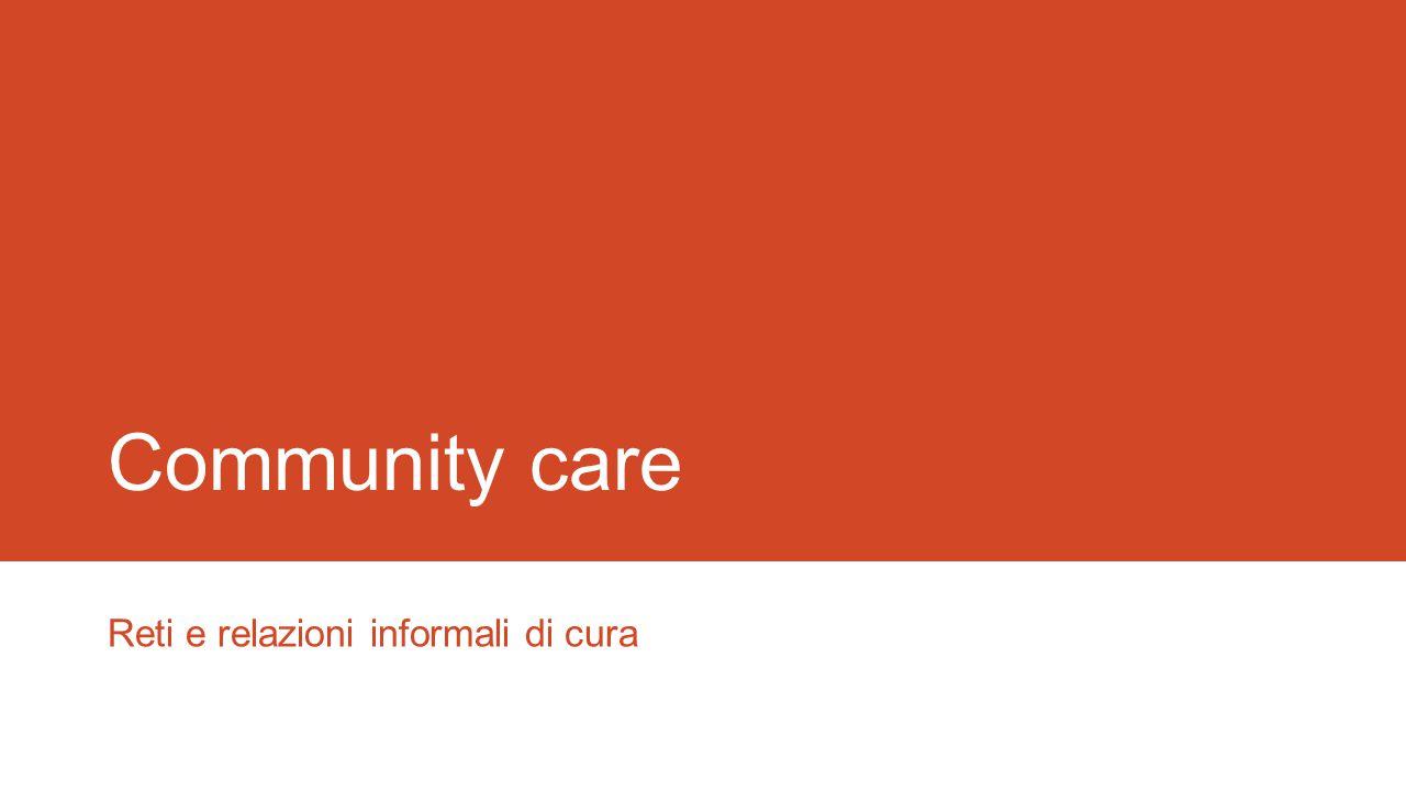 Reti e relazioni informali di cura