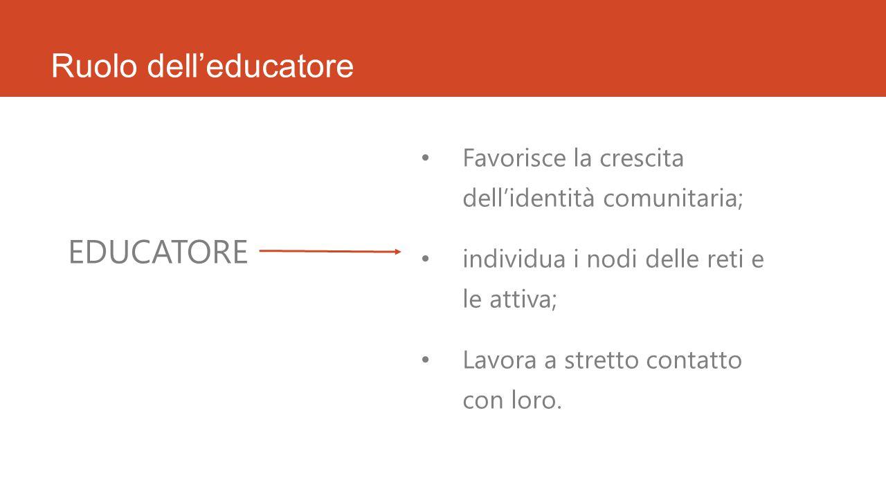 Ruolo dell'educatore EDUCATORE