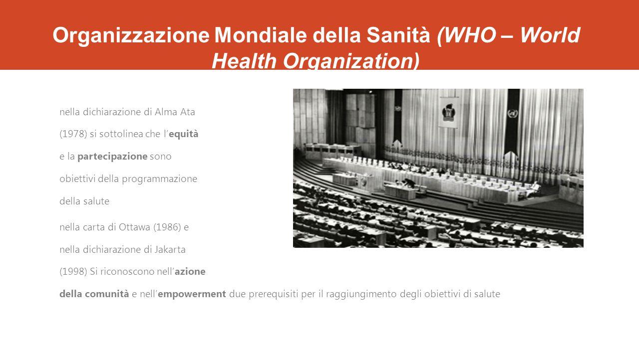 Organizzazione Mondiale della Sanità (WHO – World Health Organization)