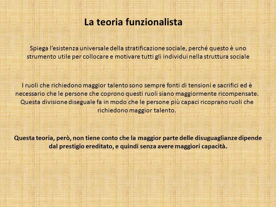 La teoria funzionalista