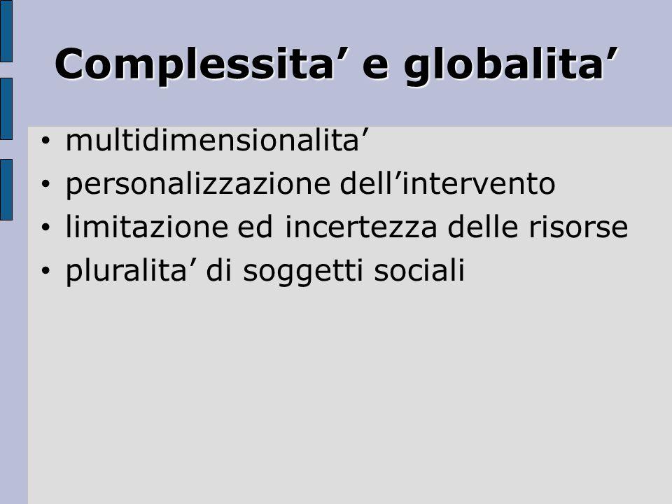 Complessita' e globalita'