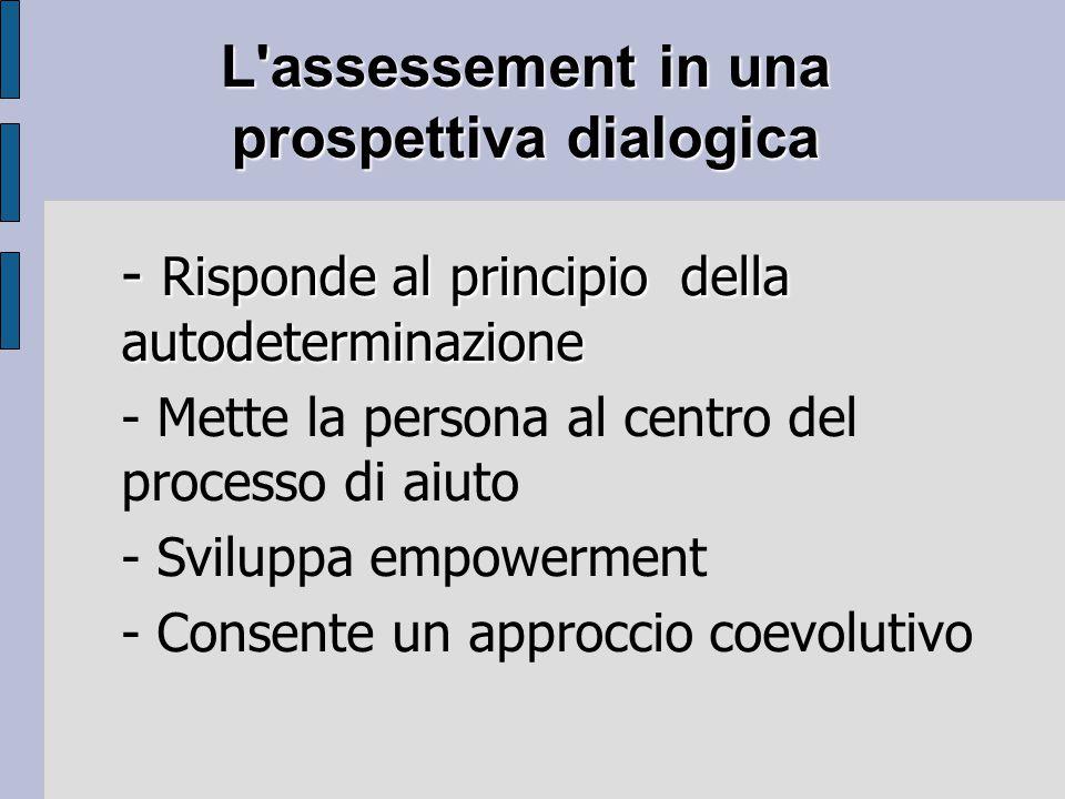 L assessement in una prospettiva dialogica