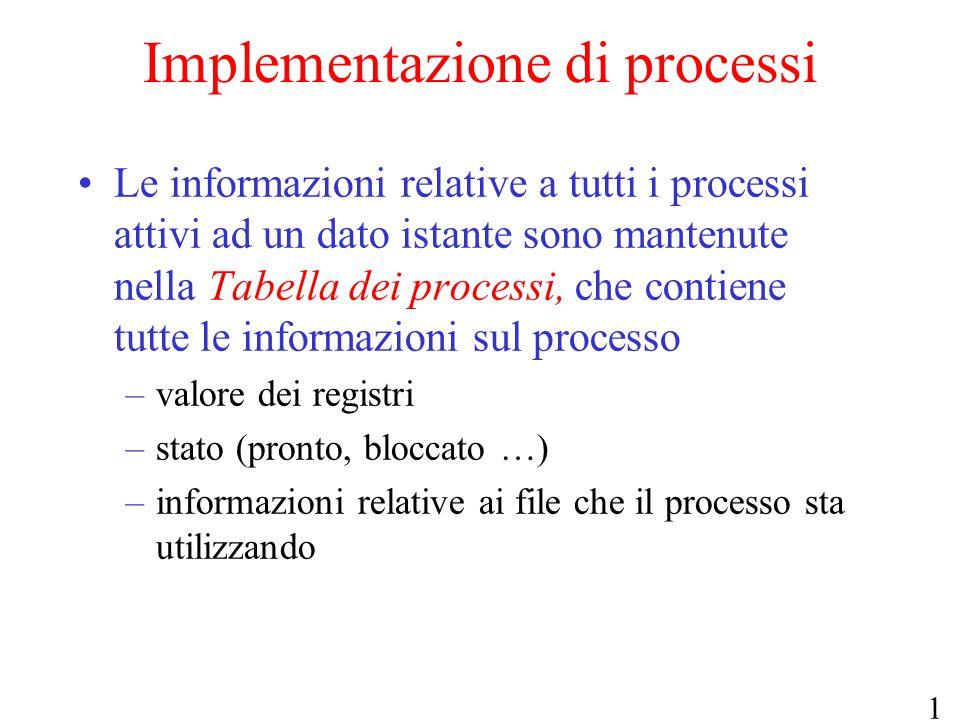 Implementazione di processi
