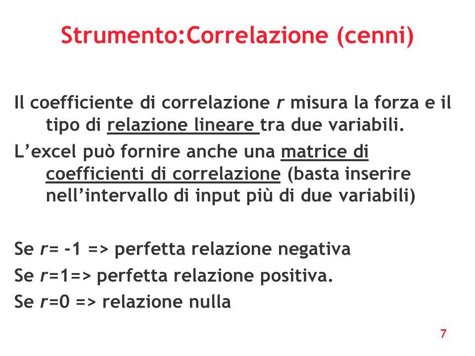 Strumento:Correlazione (cenni)