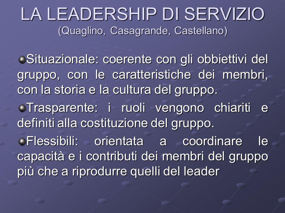 LA LEADERSHIP DI SERVIZIO (Quaglino, Casagrande, Castellano)