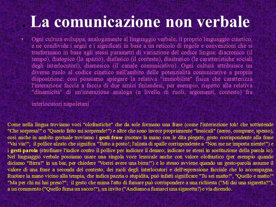 . La comunicazione non verbale