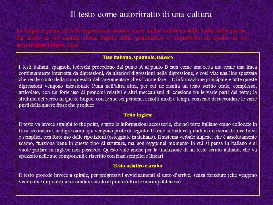 Il testo come autoritratto di una cultura