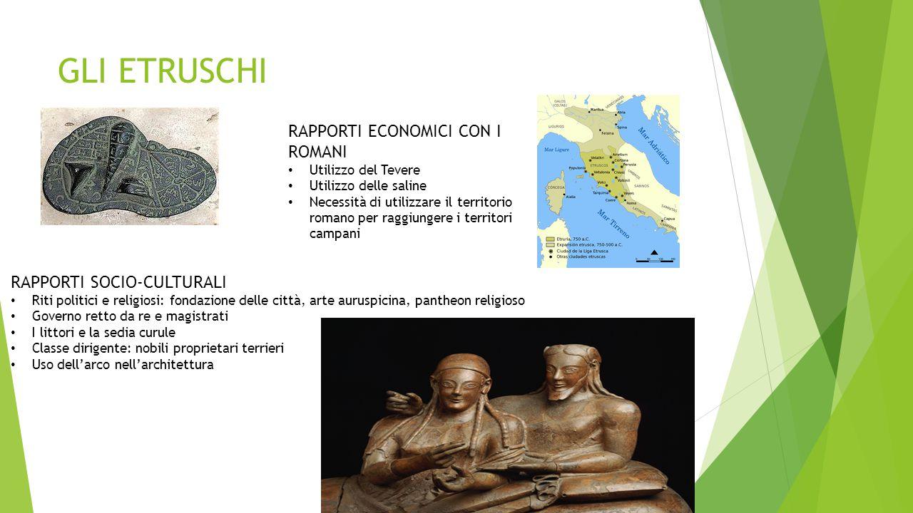 GLI ETRUSCHI RAPPORTI ECONOMICI CON I ROMANI RAPPORTI SOCIO-CULTURALI
