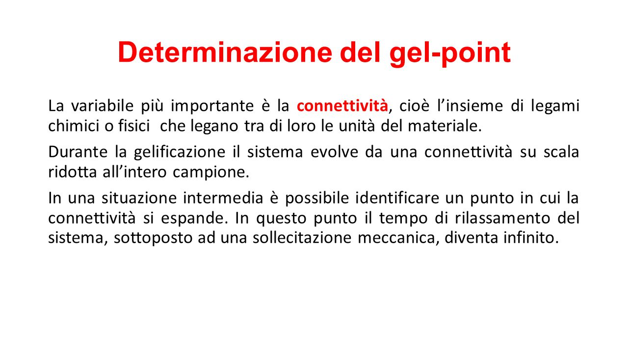 Determinazione del gel-point