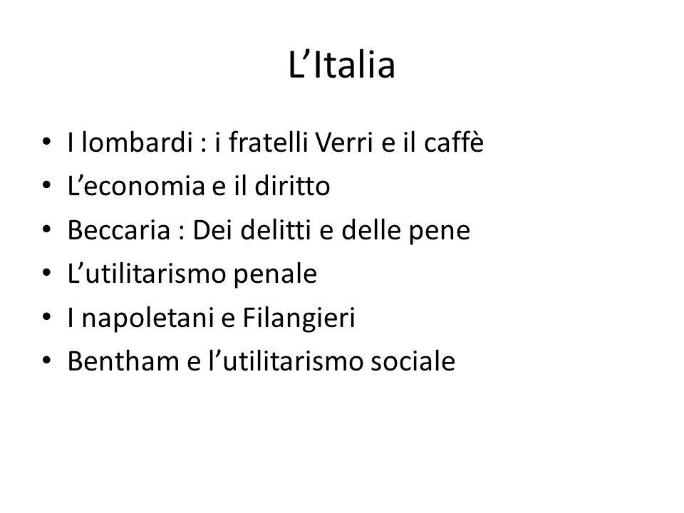 L'Italia I lombardi : i fratelli Verri e il caffè