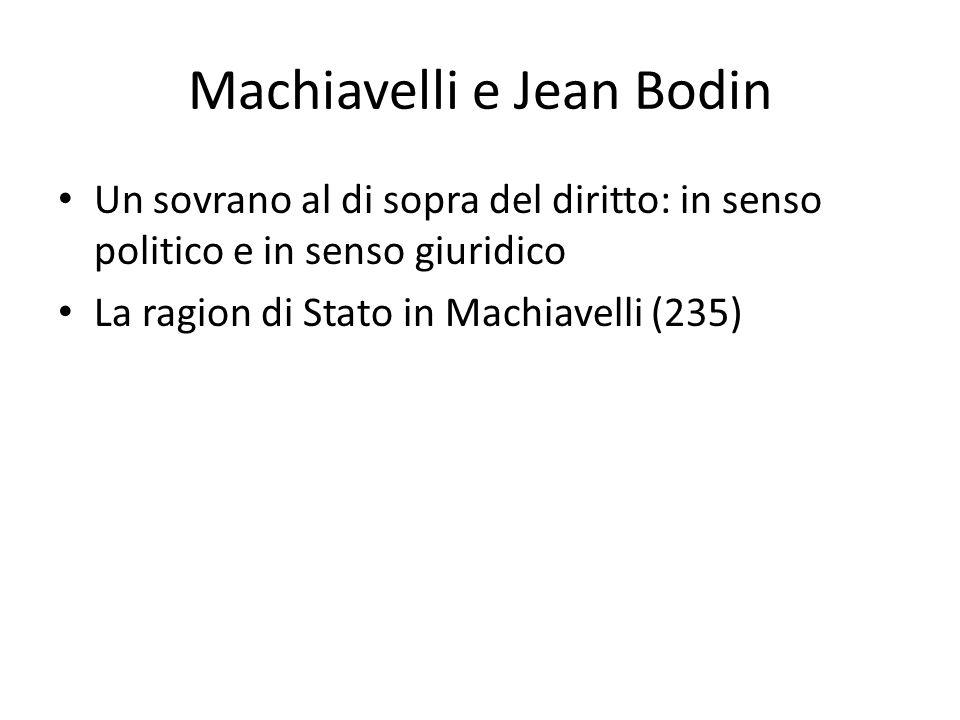 Machiavelli e Jean Bodin