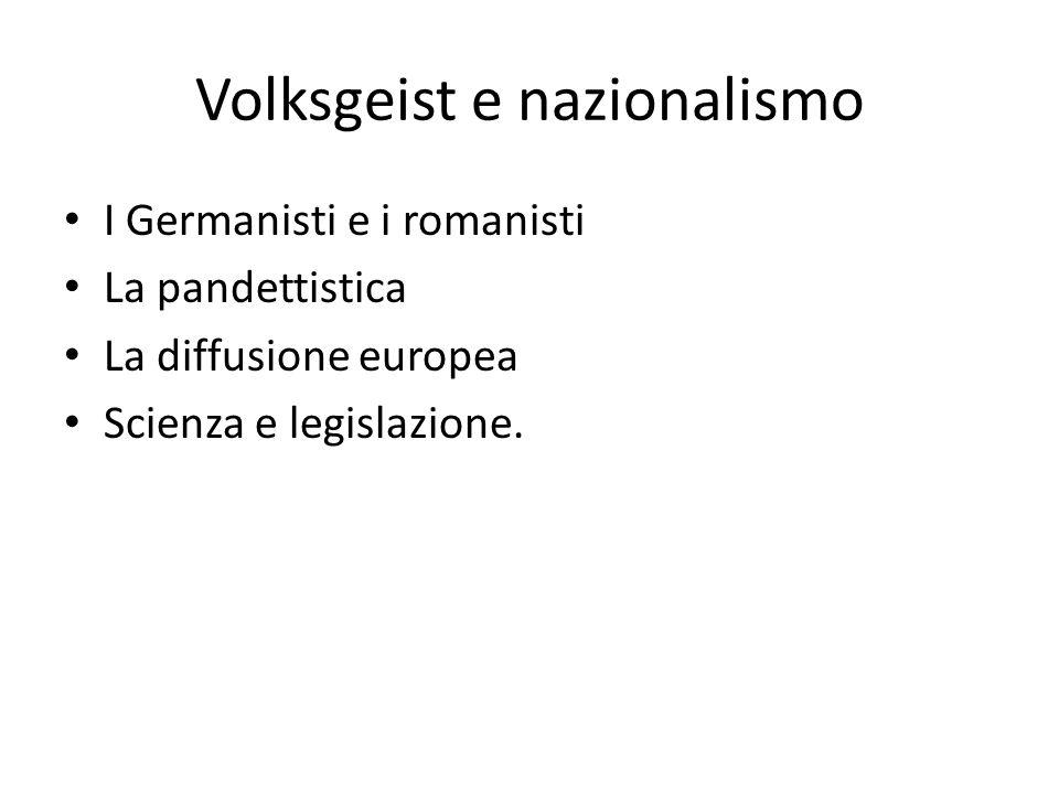 Volksgeist e nazionalismo