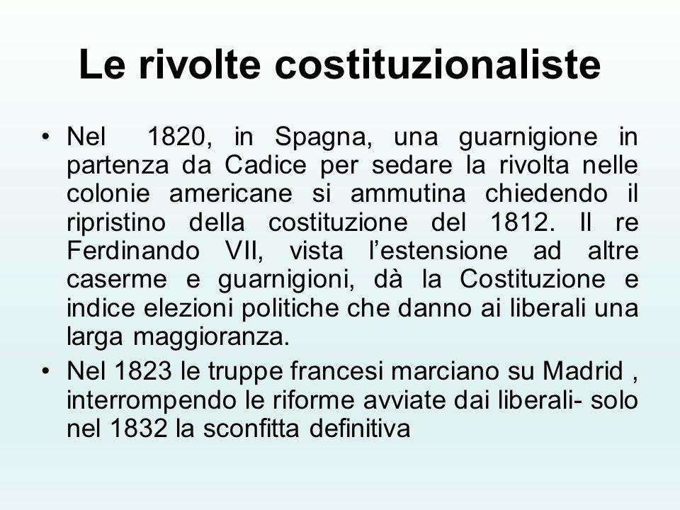 Le rivolte costituzionaliste