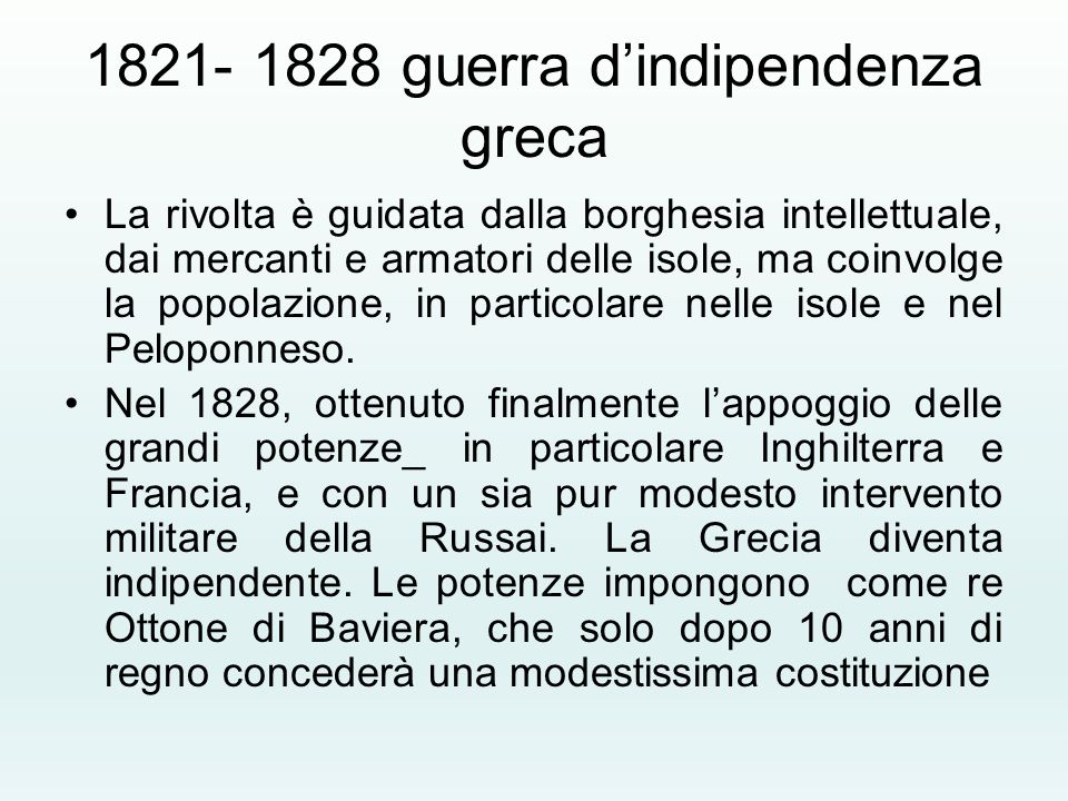 1821- 1828 guerra d'indipendenza greca