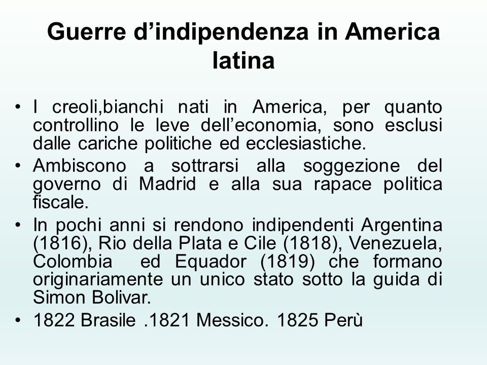 Guerre d'indipendenza in America latina